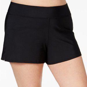 Swim Solutions Black Plus Size Swim Shorts 22W